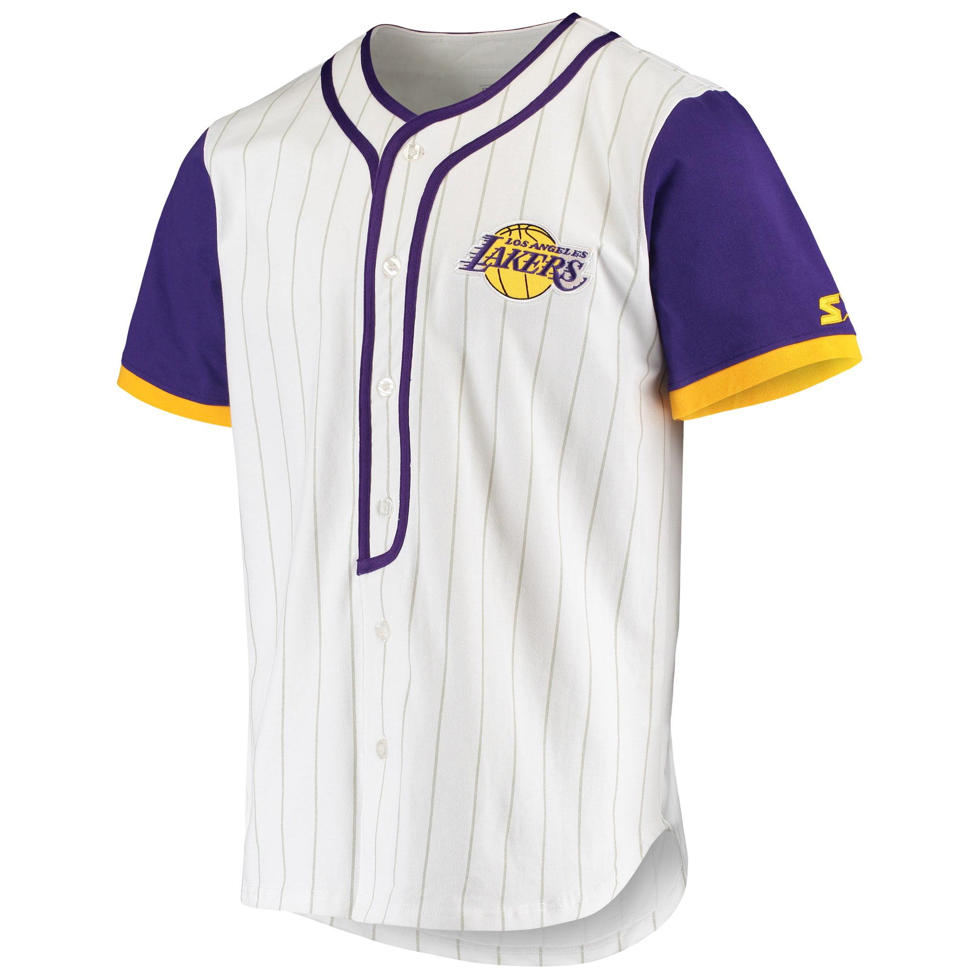 Los Angeles Lakers Starter Scout Baseball Fashion Jersey - White