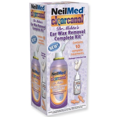 NeilMed ClearCanal Ear Wax Removal Complete Set, 10 Treatments