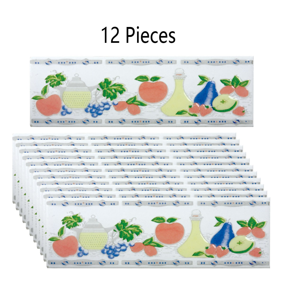 "12 Pcs Ceramic Multi-Colored Tile 3"" x 10"" | Renovator's Supply"