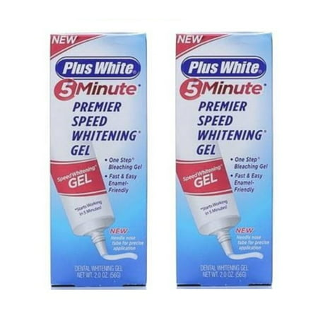 (2 Pack) Plus White 5 Minute Premier Speed Whitening Gel, 2.0