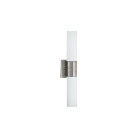 Replacement for 60/2936 LINK 2 LIGHT VERTICAL TUBE WALL SCONCE WITH WHITE GLASS BRUSHED NICKEL CONTEMPORARY replacement light bulb (Brushed Nickel Exacttemp Vertical Spa)