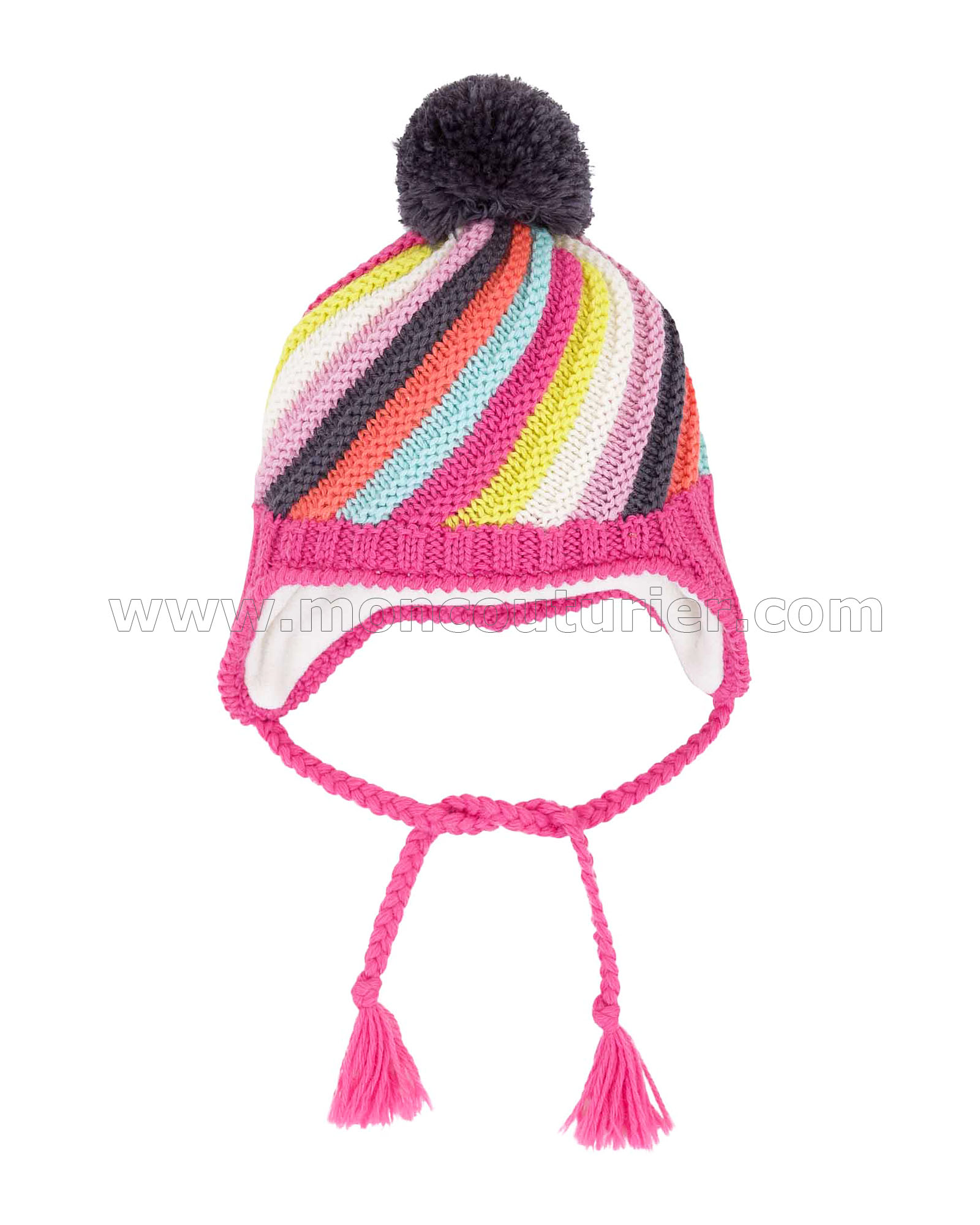 bbf6f62d5 Deux par Deux Girls  Ear-flap Hat Perce-Neige