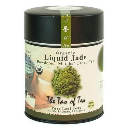 The Tao of Tea, Organic Liquid Jade 'Matcha' Tea, Powdered Loose Leaf Tea, 3 Oz Tin (Loose Organic Japanese Green Tea)