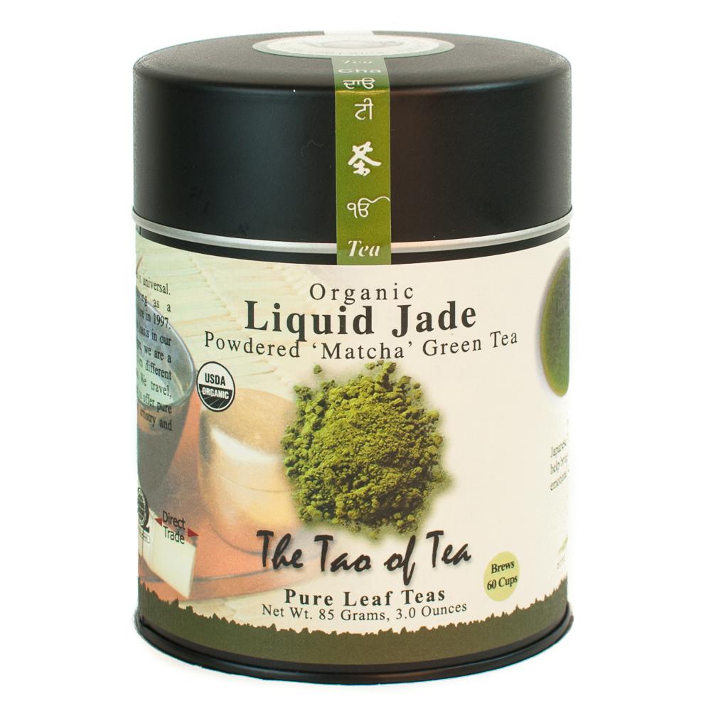 The Tao of Tea, Organic Liquid Jade 'Matcha' Tea, Powdered Loose Leaf Tea, 3 Oz Tin