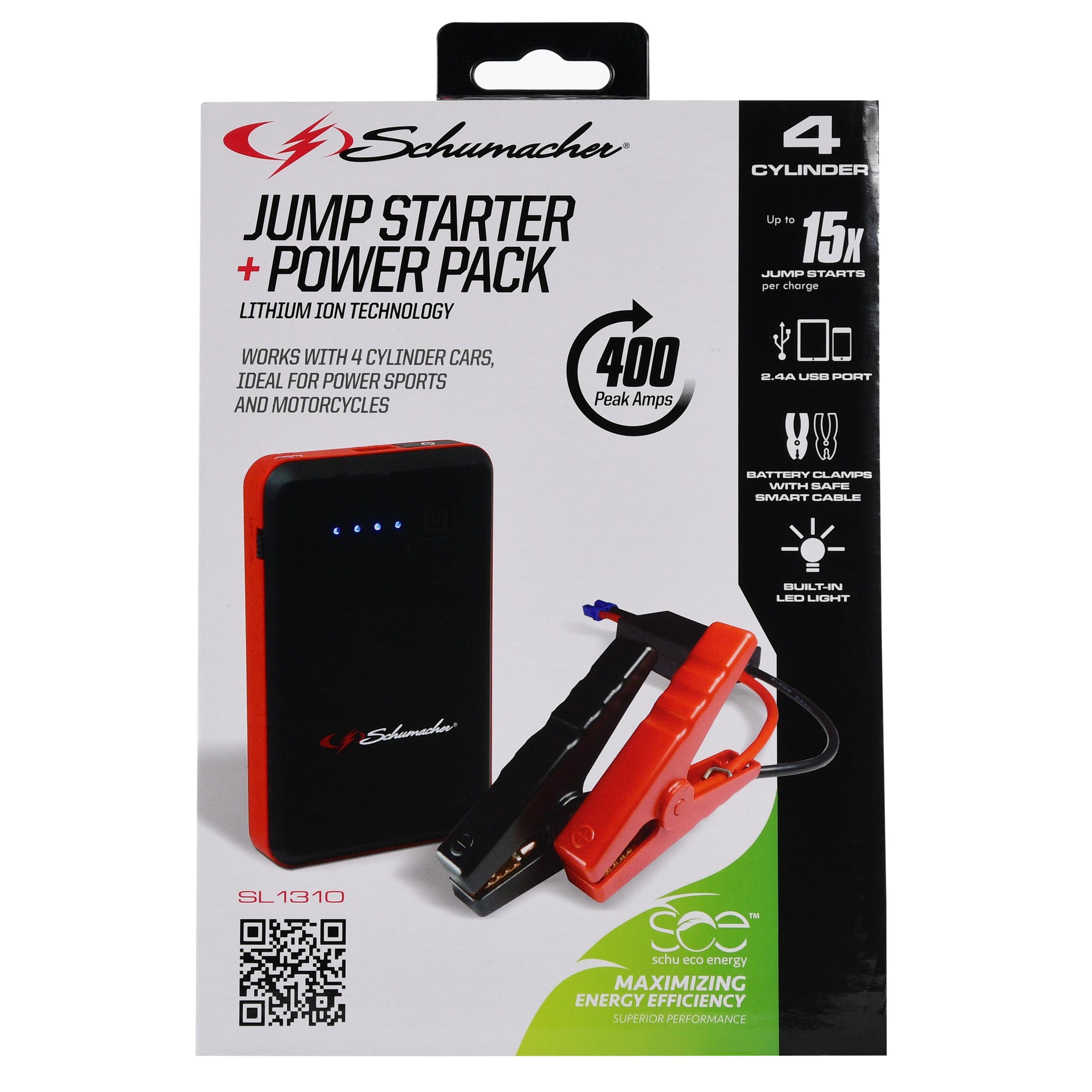 Schumacher Electric 400 Amp Lithium Ion Jumpstarter - Walmart.com