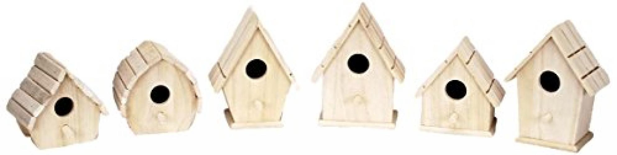 Darice 9180-08 Value Promo Wooden Sparrow Birdhouse, Assorted 1 Piece by Darice