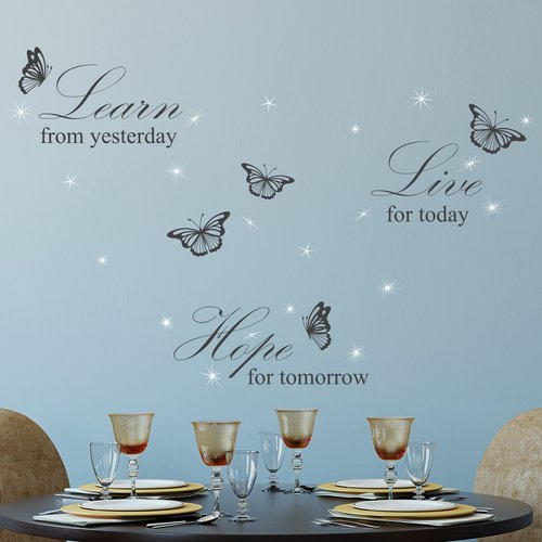 Winston Porter Learn Live Hope and Crystals Wall Decal