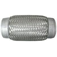"Jones Exhaust FLX1346B 1.75"" x 6"" Stainless Steel Flex Exhaust Tube"