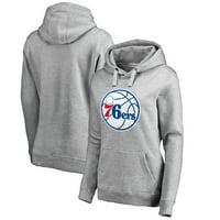 48e32ff7dda Product Image Philadelphia 76ers Fanatics Branded Women s Primary Logo  Pullover Hoodie - Ash