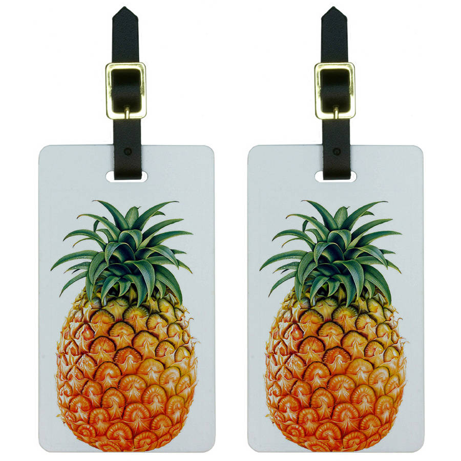 Free-2 Galaxy Pineapple Girly Luggage Tag 3D Print Leather Travel Bag ID Card