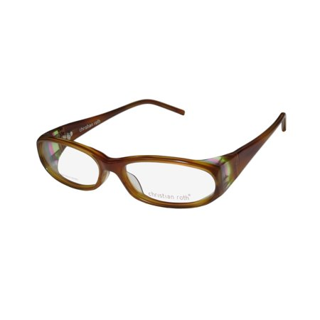 New Christian Roth 14038 Womens/Ladies Designer Full-Rim Havana Trendy Handmade In Japan Frame Demo Lenses 56-15-125 Eyeglasses/Eye (Eyeglasses Made In Japan)