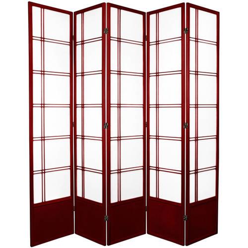 Oriental Furniture 7' Tall Double Cross Shoji Screen