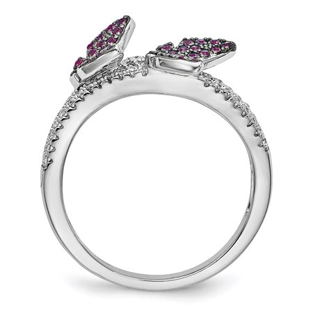 Sterling Silver CZ Brilliant Embers Butterfly Ring Size 6 - image 1 of 3