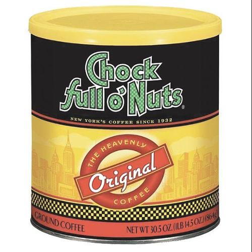 CHOCK FULL O-NUTS 007103813000 Coffee,Original Blend Med Roast,30.5 oz.