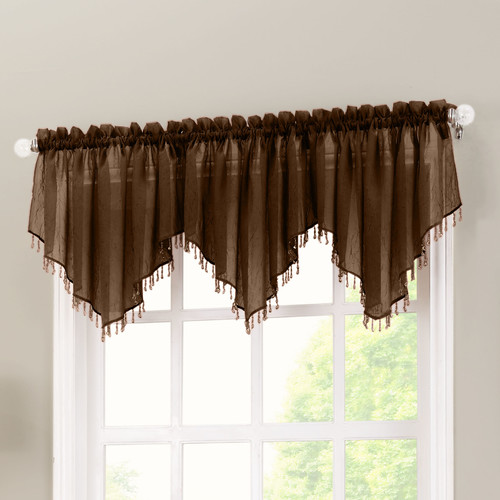 No. 918 Millennial Crushed Sheer Voile 51'' Curtain Valance