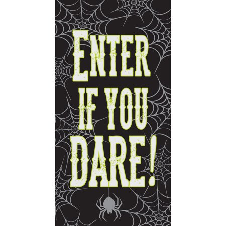 Enter If You Dare Halloween Door Decoration, 1 pack (Classroom Door Decorations Halloween)