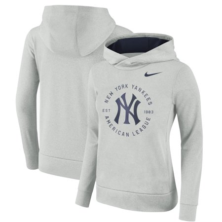 the latest caaeb 8f789 New York Yankees Nike Women's Therma Pullover Hoodie - Gray