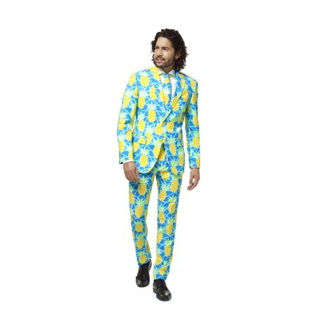 OppoSuits Men's Shineapple Pineapple Tropical Suit](Pineapple Costume)