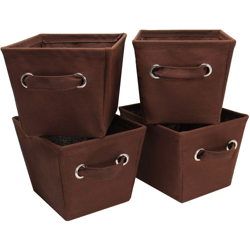 Mainstays Mini Canvas Bins, 4pk