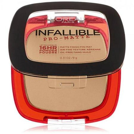0.31 Ounce Foundation - L'Oreal Paris Cosmetics Infallible Pro-Matte Powder, Natural Beige, 0.31 Ounce