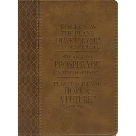 Christian Art Gifts 368069 Journal For I Know The Plans Tan Twirl Luxleather
