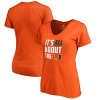 Miami Hurricanes Fanatics Branded Women's Hometown Collection All About The U V-Neck T-Shirt - Orange