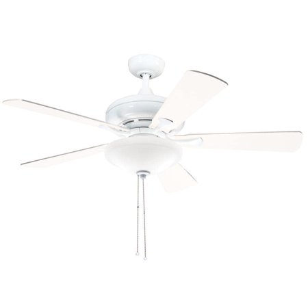 Aztec Lighting Kichler Lighting Transitional White 52 inch Ceiling Fan with 2-light Kit and Reversable Blades