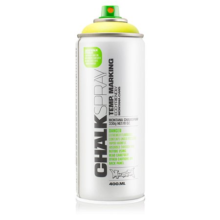 Montana Can YELLOW Chalk Spray Paint 400ml Temp Marking Eco-Friendly Aerosol