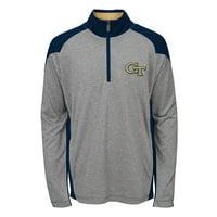 "Georgia Tech Yellowjackets NCAA ""Helix"" Men's 1/4 Zip Pullover Jacket"
