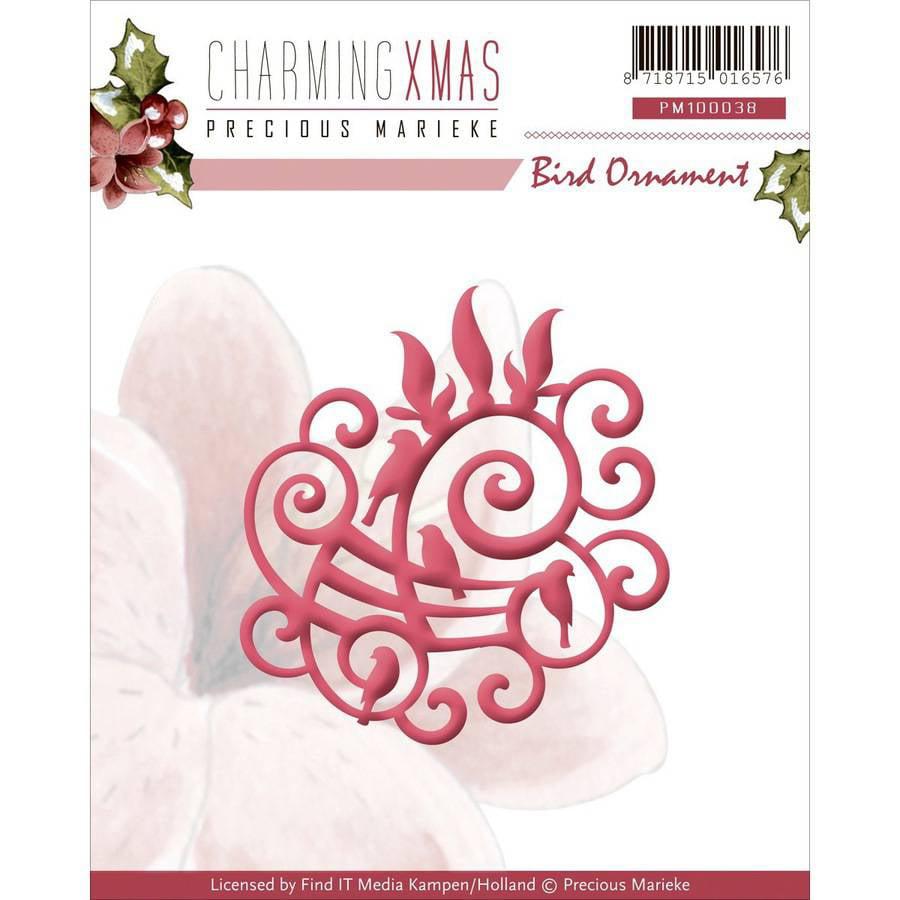 Find It Trading Precious Marieke Charming Christmas Die, Bird Ornament