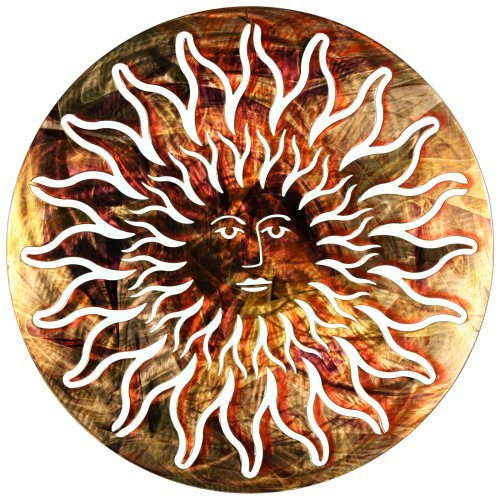Sunface Blue and Red 3D Steel Wall Art by Next Innovations