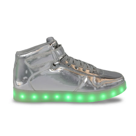 Back To The Future Shoes Replica (LED Light Up Sneakers High Top USB Charging Women Lace & Strap Shoes)