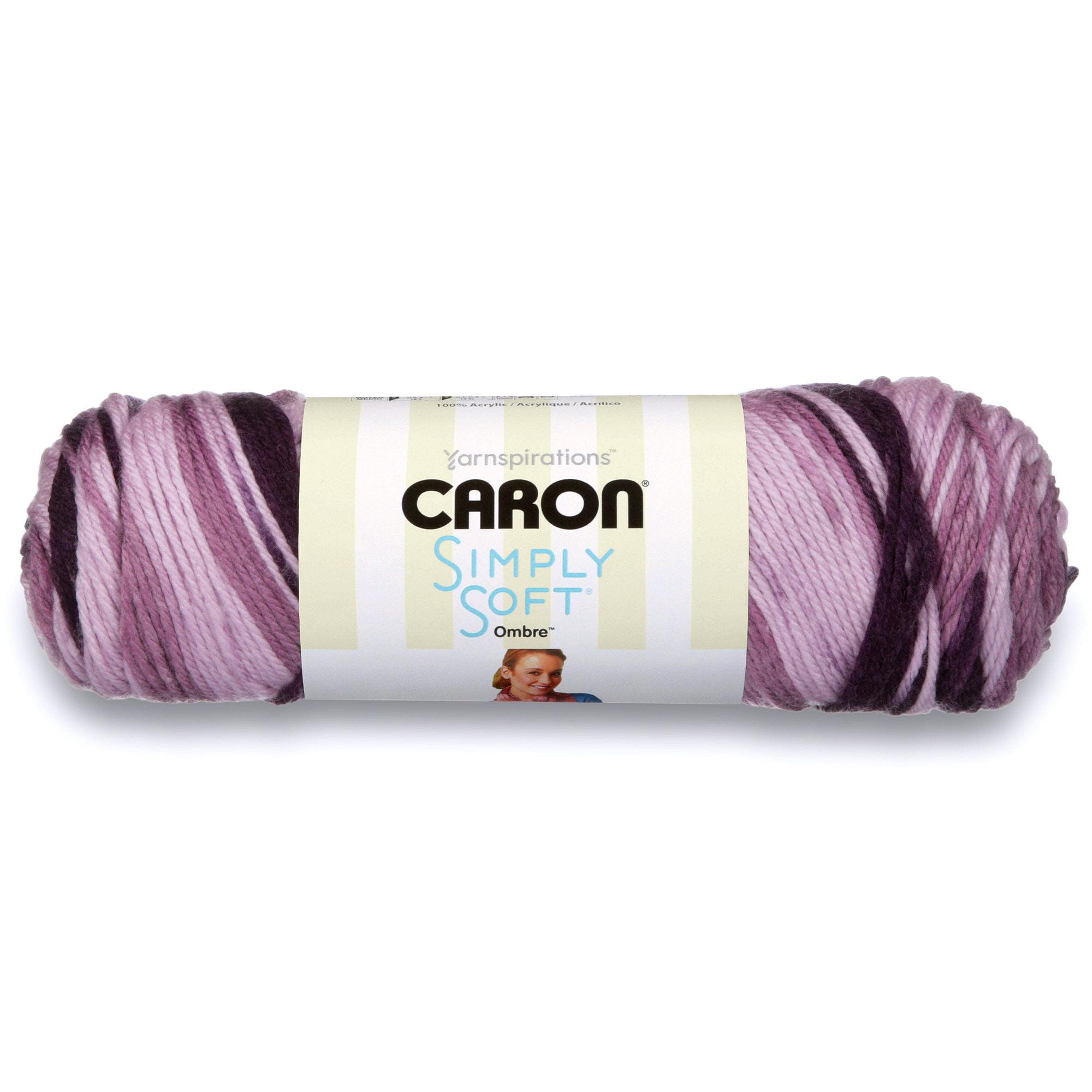 Caron Simply Soft Ombre Grape Purple Yarn, 204 Yd.