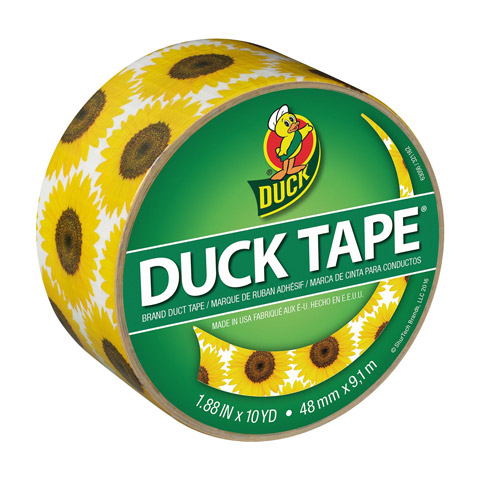Duck Brand Printed Crafting Tape. Sunflower. 1.88 in x 10 yds