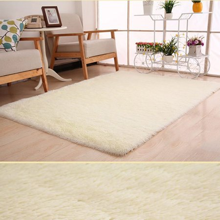 Holiday Clearance Floor Mats Soft Fluffy Area Rugs Plush Shaggy Carpet with Solid Color Non-slip Mats for Bedroom Living Room Home Decor