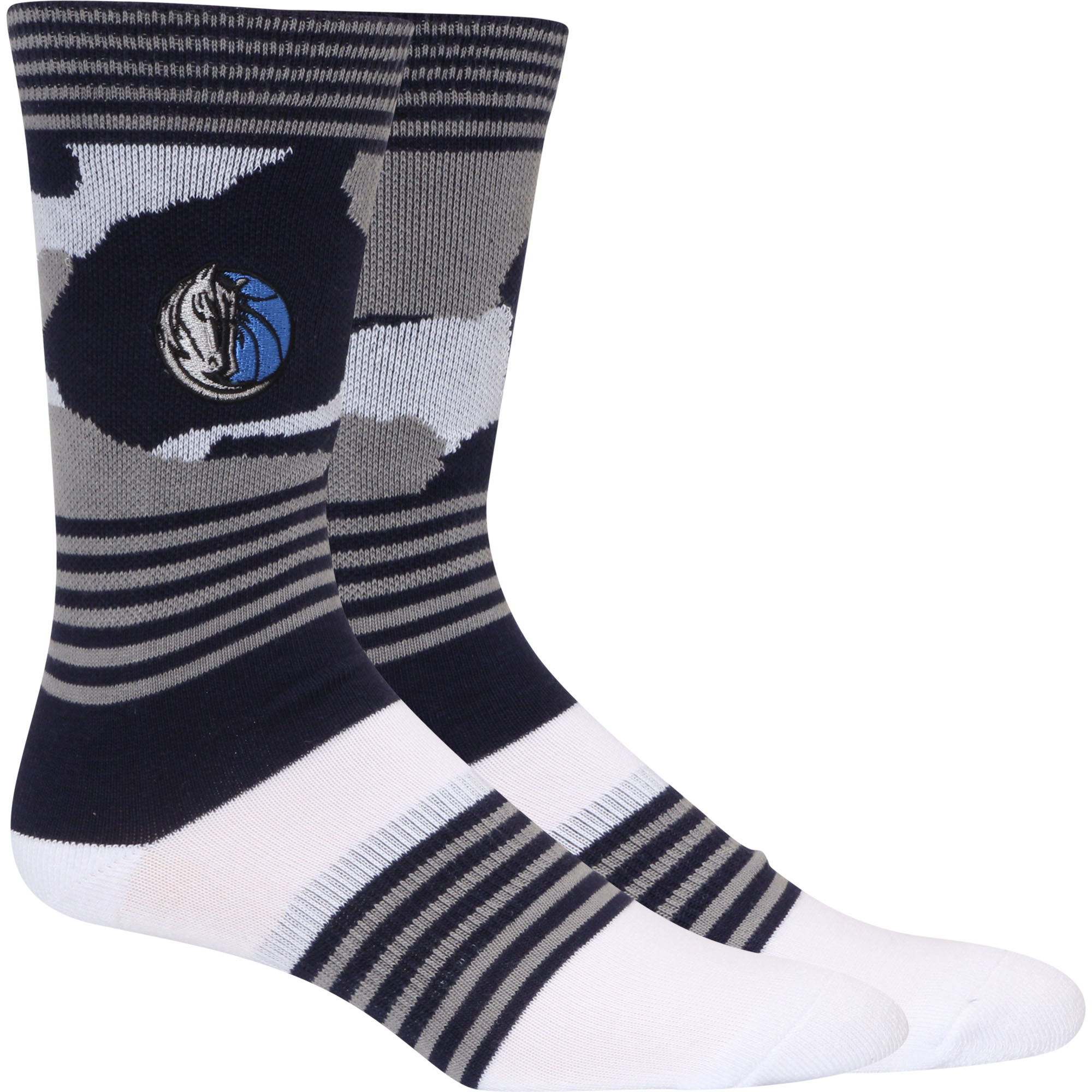 Dallas Mavericks Camo Crew Socks - L