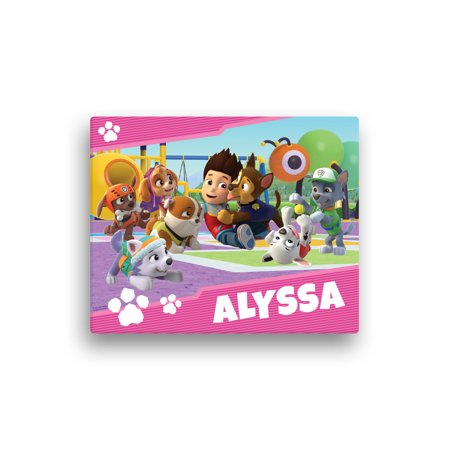 Personalized PAW Patrol Pup Park Canvas Wall Art, 16