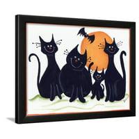 Halloween Kitties Framed Print Wall Art By Beverly Johnston