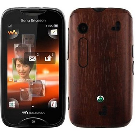 Skinomi Phone Skin Dark Wood+Screen Film Protector for Sony Ericsson Mix