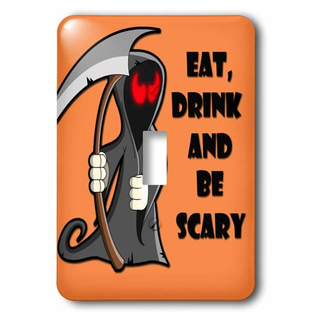 3dRose Eat, drink and be scary. Halloween funny quotes. Popular saying., Single Toggle Switch - Scary Halloween Tombstones Sayings