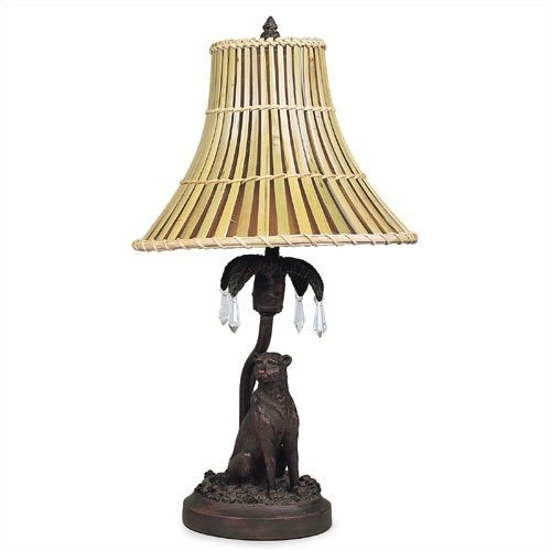 Living Well Cheetah Decor Lamp with Bamboo Shade