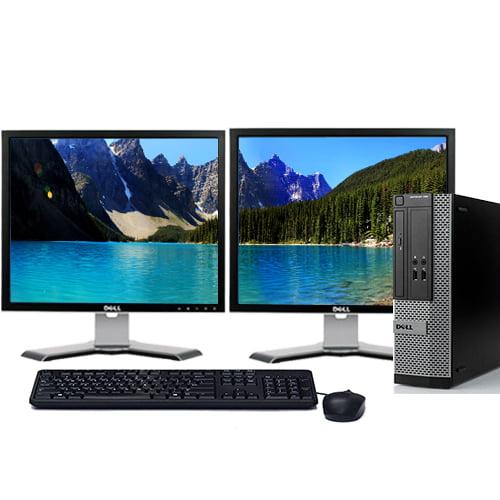 "Dell Optiplex 390 Desktop PC Tower System Intel 3.1GHz Processor 4GB Ram 500GB Hard Drive DVDRW Windows 10 Home Premium with 22"" Dual Screen Dell LCD's -Refurbished Computer"