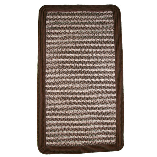 Thorndike Mills Town Crier Brown Indoor/Outdoor Rug