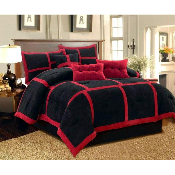 Piece Micro Suede Comforter Bedding Set, Bedding Oversized Comforter Sets
