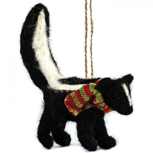 Outside Inside 99258 Felted Raccoon Ornament