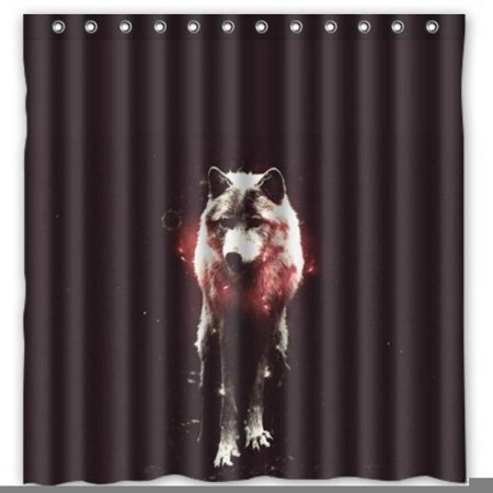 Deer Bear Wolf Water Proof Polyester Fabric 66 X 72 Shower