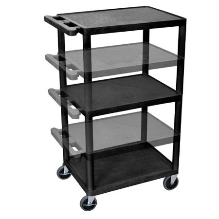 Luxor 3-Shelf Multi-Height A/V Cart with Electric,
