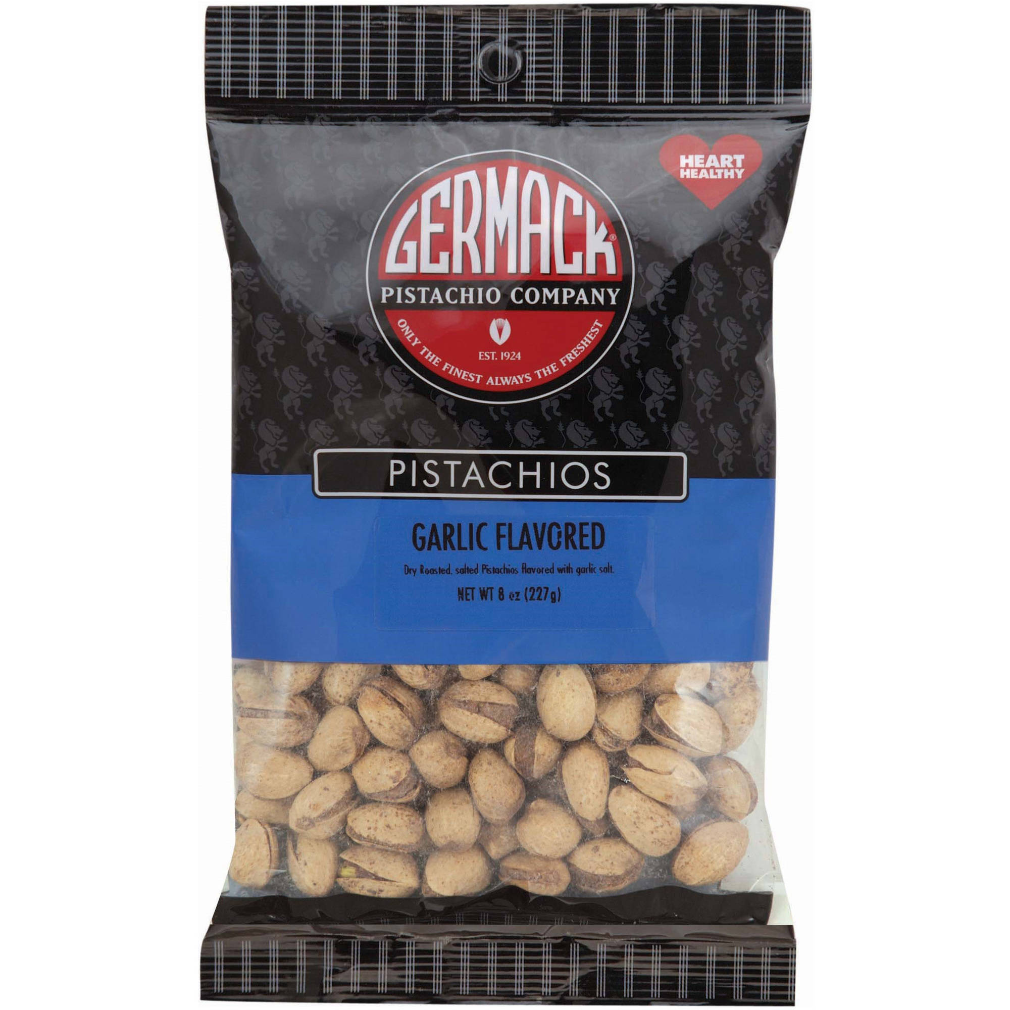 Germack Pistachio Company Garlic Flavored Pistachios, 8 oz by GERMACK