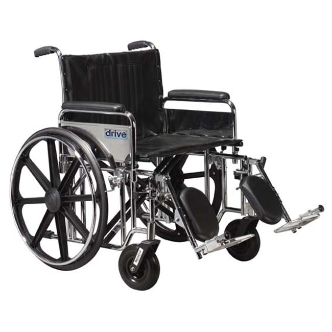 Sentra Extra Heavy Duty Wheelchair with Various Arm Styles and Front Rigging Options- Black