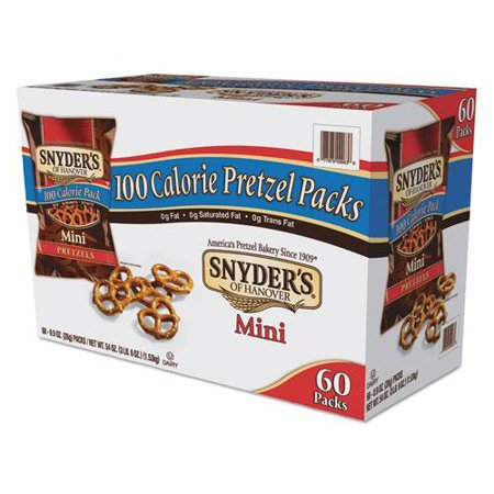 Snyder's Mini Pretzels 100 Calorie Pack, .92 oz, 60 Count](Halloween Pretzel Spiders)